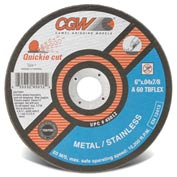 Cgw 4-1/2x.035x7/8 T1 Za60t Quickie Cut Reinforced Cutoff Wheel - Pkg Qty 25