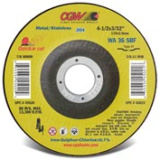 Cgw 4-1/2x3/32x7/8 T27 Wa36s Quickie Cut Cutoff Wheel (.094) - Pkg Qty 25