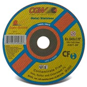 Cgw 4-1/2x.035x7/8 T1 A60t Super Quickie Cut Cf Cutoff Wheel - Pkg Qty 50