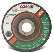 "Fast Cut Depressed Center Wheels - 1/4"" Grinding, Type 27, Cgw Abrasives 70099 - Pkg Qty 25"