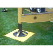 "Checkers® RIGPAD 7-ply Engineered Composite Fiberglass Outrigger/Crane Pad, 24"" x 24"", 24CR7"