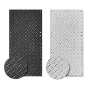 Checkers® AlturnaMATS® HDPE Ground Protection Mat, 2' x 4', Black, Smooth 1-Side, AM24S1
