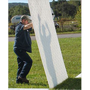 Checkers® MAT-PAK, 4' x 8' Clear VersaMATS®, Smooth on 1-Side, CVCP4S1