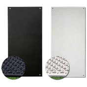 Checkers® VersaMATS® HDPE Ground Protection Mat, 3' x 8', Black, Smooth on 1-Side, VM38S1