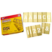 "3"" Brass Interlocking Stencil Letters and Numbers, 77 Piece Set"