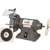 "Palmgren 9682069 Bench Grinder Buffer W Wheel Guards & Dust Collection Ports, 8"" Wheel Dia"