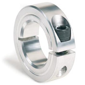 "One-Piece Clamping Collar, 1/4"", Aluminum"