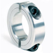 "Two-Piece Clamping Collar, 7/16"", Aluminum"