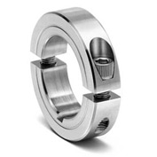 "Two-Piece Clamping Collar with Keyway 2C-KW-Series, 1/2"", Stainless Steel"