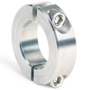 "Two-Piece Clamping Collar, 9/16"", Zinc Plated Steel"