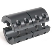 "2-Piece Industry Standard Clamping Coupling w/Keyway, 1-1/2"", Black Oxide Steel"