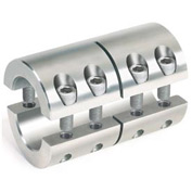 "Two-Piece Industry Standard Clamping Couplings, 1-1/2"", Stainless Steel"