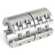 "Two-Piece Industry Standard Clamping Coupling w/Keyway, 7/8"", Stainless Steel"