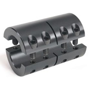 Metric Two-Piece Industry Standard Clamping Couplings, 15mm, Black Oxide Steel