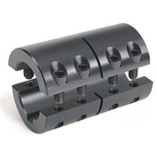 Metric Two-Piece Standard Clamping Couplings w/Keyway, 16mm, Black Oxide Steel