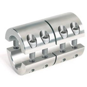 Metric Two-PieceStandard Clamping Couplings w/Keyway, 50mm, Stainless Steel
