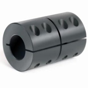 "One-Piece Clamping Couplings Recessed Screw, 1/4"", Black Oxide Steel"