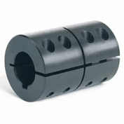 "One-Piece Clamping Couplings Recessed Screw w/Keyway, 1-1/8"", Black Oxide Steel"
