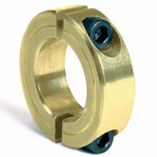 """Corrosion Resistant Two-Piece Clamping Collar CR, 1-1/4"""", Yellow Zinc Dichromate"""