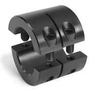 "Two-Piece Clamping Collar Double Wide, 1/4"", Black Oxide Steel"