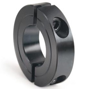 "Two-Piece Clamping Collar Recessed Screw, 3"", Black Oxide Steel"