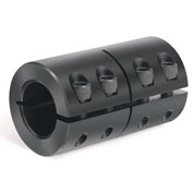 "One-Piece Industry Standard Clamping Couplings, 1/4"", Black Oxide Steel"
