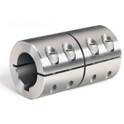 "One-Piece Industry Standard Clamping Couplings w/Keyway, 7/8"", Stainless Steel"