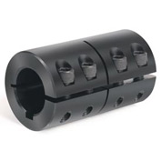 "One-Piece Standard Clamping Couplings w/Keyway, 1-1/8"", Black Oxide Steel"