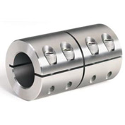 "One-Piece Industry Standard Clamping Couplings, 1-1/8"", Stainless Steel"