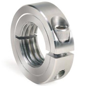 One-Piece Threaded Clamping Collar, Stainless Steel, ISTC-025-20-S