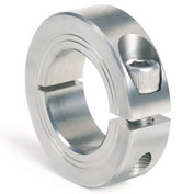 Metric One-Piece Clamping Collar, 80mm, Stainless Steel