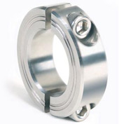 Metric Two-Piece Clamping Collar, 23mm, Stainless Steel