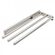 Hafele Chrome Finish 3 Bar Towel Rack 510.54.232
