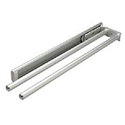 Hafele Silver Finish 2 Bar Towel Rack 510.54.921