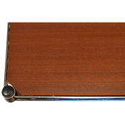 "Chadko WT 41 Wood Grain Plastic Shelf Liner - 18""W x 12""D Teak"