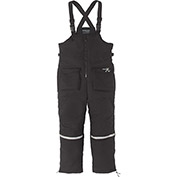 Clam™ Ice Armor™ Insulated Bibs, Black, L