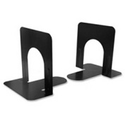 "Charles Leonard, Inc Non-Skid Bookends 5-5/16"" High Black 2 Pack"