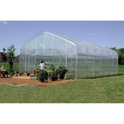 Majestic Greenhouse 20'W x 48'L w / Top / Side / Polycarbonate