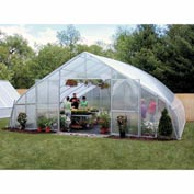 26x12x28 Solar Star Greenhouse w/Poly Ends and Roll-Up Sides