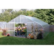 26x12x28 Solar Star Greenhouse w/Poly Ends and Drop-Down Sides, Prop Heater