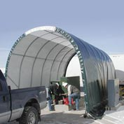 SolarGuard Freestanding Building 14'W x 10'H x 24'L on Wheels Green