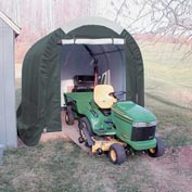 Mini Garage/Storage Shed 8'W x 8'H x 12'L Tan