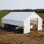 Moo-Tel Calf Nursery w/ Open Ends 26'W x 20'L White