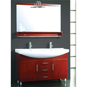 "Cambridge Plumbing 48"" Double Vanity Set W/Porcelain Counter Top, Polished Chrome Faucets"