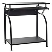 OneSpace Stanton Computer Desk with Pullout Keyboard Tray - Black