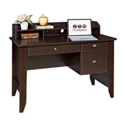 "OneSpace Executive Office Desk with Hutch, USB and Charger Hub - 47-1/4"" - Espresso"