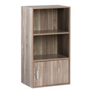OneSpace Small Modern Office Bookshelf - Walnut