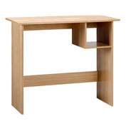 "OneSpace Modern Office Desk with Storage - 35"" - Oak"