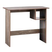 "OneSpace Modern Office Desk with Storage - 35"" - Walnut"