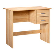 "OneSpace Modern Office Desk with Drawers - 35"" - Oak"